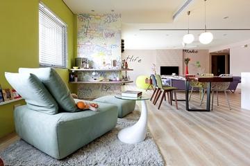 后现代90平三居室效果图过道