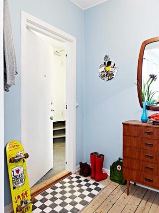 66平小资三口之家欣赏卧室过道