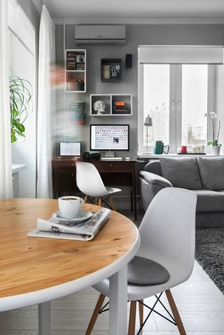 白色现代北欧舒适住宅欣赏餐厅局部