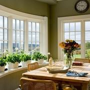 欧式家装效果图厨房餐桌