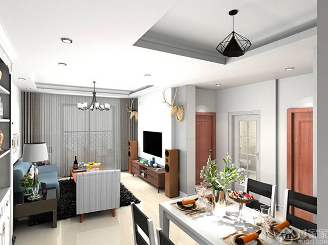 【黑科技】山语海82㎡3房2厅北欧风格设计,舒适系美家!