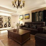 98平美式稳重住宅欣赏客厅设计