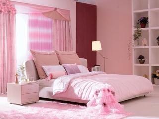 简约春天气息住宅欣赏卧室窗帘设计