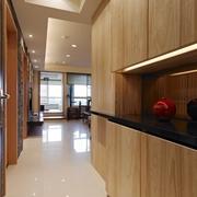 110平日式风格住宅欣赏过道设计