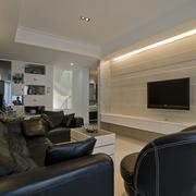 新古典别墅设计图休息厅电视背景墙