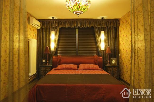 东南亚风格住宅欣赏卧室窗帘