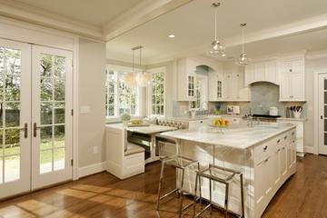欧式装饰别墅效果图厨房室内门