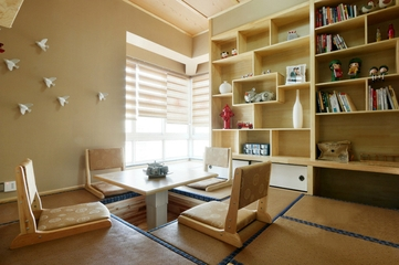 127平中式风四居欣赏书房设计