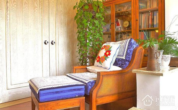 休闲舒适 混搭书房书柜装修效果图