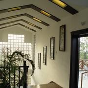 传统中式风楼梯吊顶效果图