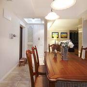 98平美式稳重住宅欣赏餐厅效果