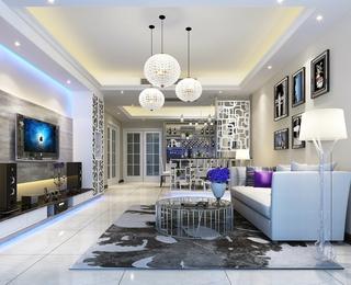 现代极简两居室欣赏客厅灯