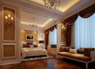 120平法式经典三居欣赏卧室