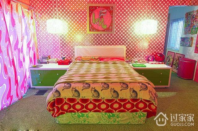 时尚彩色简约住宅欣赏卧室