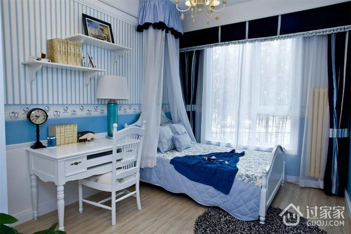 白色浪漫地中海住宅欣赏卧室吊顶