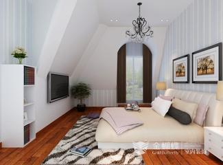 混搭风格效果图复式欣赏卧室