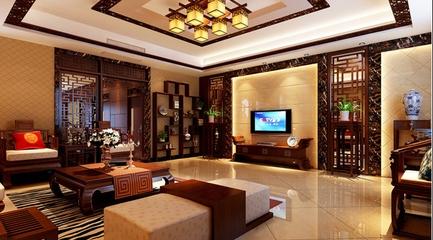 中式大平层奢华住宅欣赏客厅设计