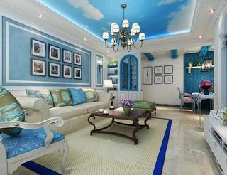 蓝色地中海两居室欣赏
