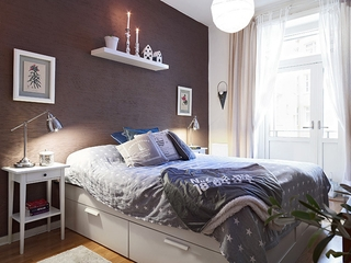 整洁优雅宜家风格欣赏卧室