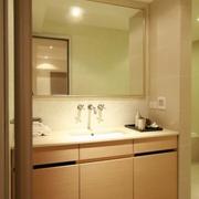 83平日式风格住宅欣赏洗手间