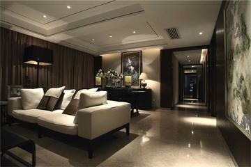 中式装修风格客厅布艺沙发图片