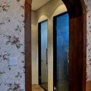 中式风格主卧门设计效果图