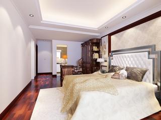 典雅简欧风住宅欣赏卧室吊顶设计