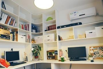 62平简约小两居住宅欣赏书房书柜