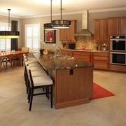 大理石台面的厨房中岛