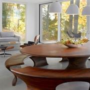 与森林呼应的现代风格欣赏客厅全景