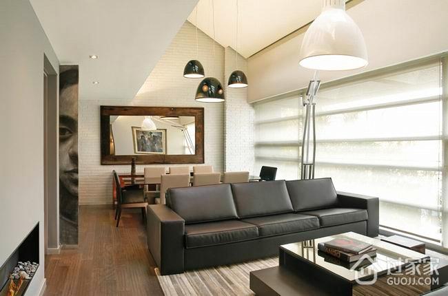 128平现代复式住宅欣赏