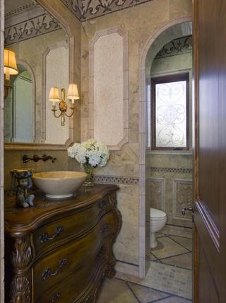 豪华法式风格装饰套图洗手台