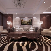118平新古典三居室欣赏客厅背景墙