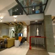 现代风格复式客厅吊顶