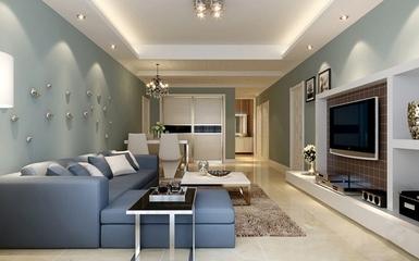 淡雅美式风住宅欣赏客厅背景墙设计