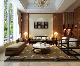 135平新中式风格住宅欣赏