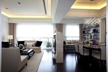 新古典三居室样板房案例欣赏客厅隔断
