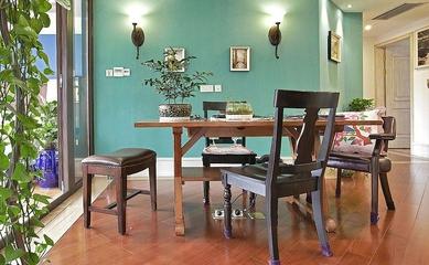 浪漫餐厅餐桌效果图 个性混搭效果