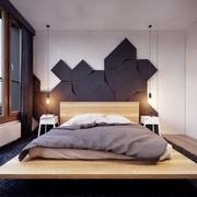 卧室个性床装饰效果图 创意现代家居