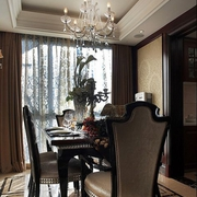 古典与现代结合的欧式风格餐厅