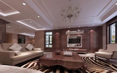118平新古典三居室欣赏客厅吊顶