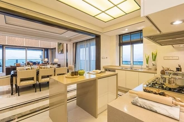 185平新中式风格样板房欣赏厨房