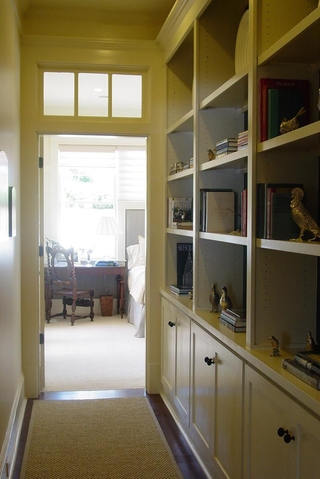 复式简欧风格效果图卧室陈列架