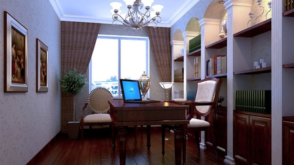 美式大三居住宅欣赏书房