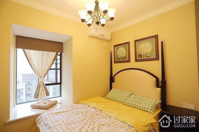 温馨美式二居室 卧室铁艺灯饰效果图