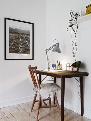 白色宜家风格一居室欣赏书房