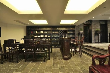 320平紫檀木中式欣赏书房设计图