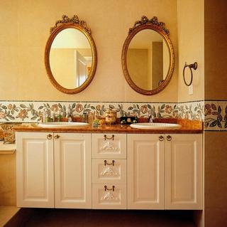 温馨美式风格三居欣赏洗手间