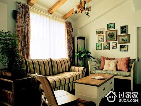 80平米两室两厅两卫小阁楼装修  原木、人造石、传统花色构筑的田园家居