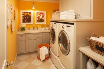 田园风格效果图洗衣房